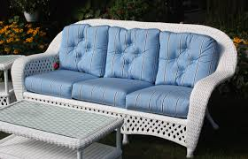 outdoor white wicker furniture nice. White Outdoor Wicker Sofa: Montauk Collection Furniture Nice