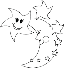 Coloring Pages Of Moon Stars Coloring Sheets Coloring Pages Of Stars