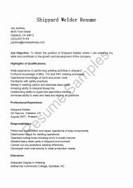 Welder Resume Structural Welding Objective For Docstoc Docs