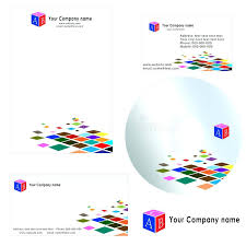 Download Business Card For Company Letterhead Template Stock Vector ...