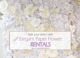 Paper Flower Backdrop Rental Decorative Giant Paper Flowers Wall