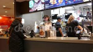 mcdonalds inside counter. Plain Inside Motion Of People Ordering Food At Mcdonalds Check Out Counter Stock Footage   Video Of Paying Owner 106525444 Inside L