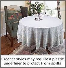 the next generation of vinyl crochet tablecloth 70 inches round
