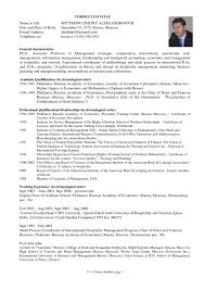Gallery Of Sample Graduate School Resume