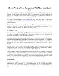 Cover Letter How To Prepare A Perfect Resume Make Online Template