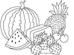 Fruits Coloring Pages Coloring Vegetables And Fruits Coloring Pages