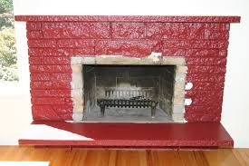paint red brick fireplace