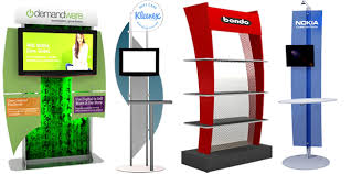 Marketing Display Stands Mesmerizing Workstations And Monitor Stands Classic Exhibits