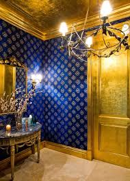 wallpaper for my royal blue gold room