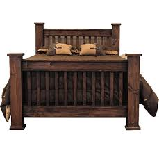 Rustic Style Mission Bed, Mission Style Bed, Mission Style Bed Frame