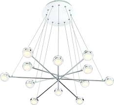 lazio modern 12 light led suspended orbs chandelier chrome