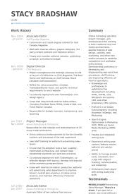 ... Inspiring Design Editor Resume 12 Associate Editor Resume Samples ...