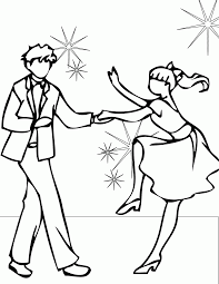 Dance Coloring Pages Get Free Printable Ballroom Dancing Page