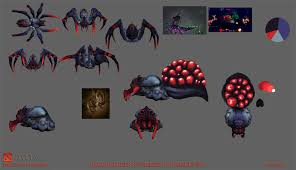 dota2 broodmother hatchery of horrors polycount