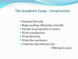 academic essays report writing ppt  the academic essay construction