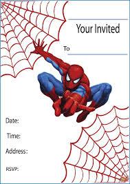 Spiderman Birthday Invitation Templates Free Free Printable Spiderman Party Invitations On Www