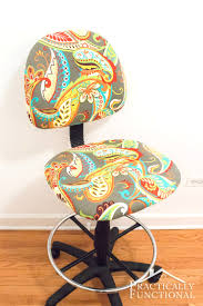 how to reupholster an office chair fix a worn out chair or just add