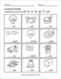 When a child attempts to work out an unknown word, s/he will need to be able to identify the letters' corresponding sounds. Free Consonant Blends With R Worksheets For Preschool Children