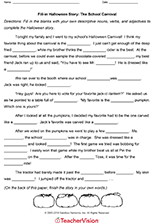 fill in halloween story a scary night gr teachervision related resources