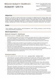 Mental Health Professional Resume Sample Best Of Behavior Analyst Resume Samples QwikResume