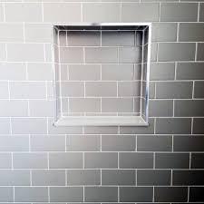 subway tile shower niche. Contemporary Tile Grey Subway Tile Shower Niche Ideas On I