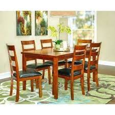 cherry wood dining table set 7 piece round and chairs cherry wood dining table set