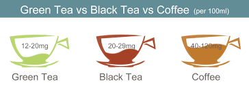 Green Tea Caffeine Vs Coffee Chart How Much Caffeine In Green Tea And The Side Effects