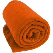 orange deluxe microfiber fleece throw blanket monogramming available