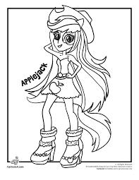 Applejack My Little Pony Rainbow Rocks Equestria Girls Cartoon