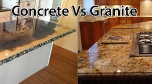comparing concrete to granite countertops