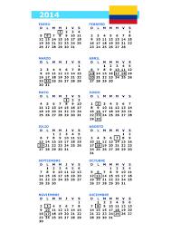 Calendarios Para Imprimir 2015 Calendario Y Feriados Colombia 2014 La Economia De Hoy