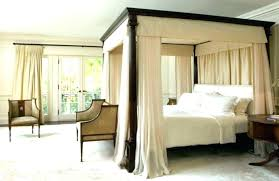 Canopy Bed Frame Queen Brown Gray Queen Canopy Bed Frame Canopy Bed ...