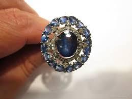 <b>Браслет жесткий</b>: Кольцо серебряное с сапфирами и <b>алмазами</b> ...