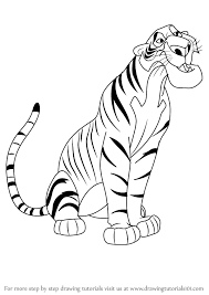 how to draw shere khan from the jungle book