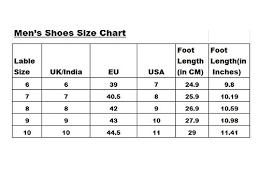 Footwear Size Chart India Vs Us Foot Size Chart India And Eu Www Bedowntowndaytona Com