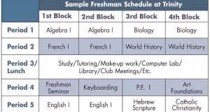 Block Scheduling Colleges Sample Block Schedule