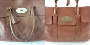 a small stain has been removed from the front of this english oak leather mulberry bayswater