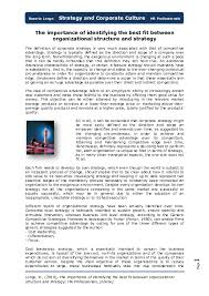 Pdf The Importance Of Identifying The Best Fit Between
