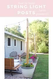 Light Post Planter A Post On Posts Backyard Patio Backyard Patio