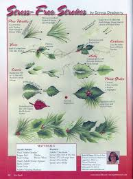 donna dewberry holly and pine needles step by step