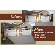 Faux Garage Door Windows Shop Coach House Accents 2 Pack 45 1 2 In Plastic Garage Door