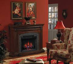 saranac infrared electric fireplace mantel package in roasted cherry