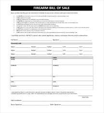 10 Sample Bill Of Sale For Firearms Sample Forms