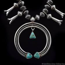 navajo turquoise and silver squash