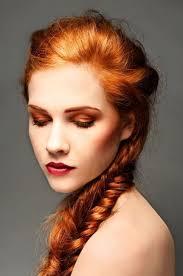 little ginger hair color for hazel eyes