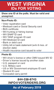 Voteriders Voter Id · Information West Virginia