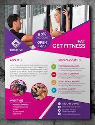 Free Fitness Gym Flyer Template Psd I Like Flyer Pinterest