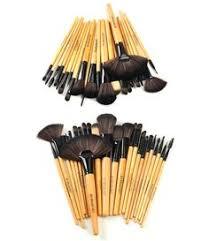 premium wood brush set with free case