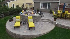 raised patio backyard patio