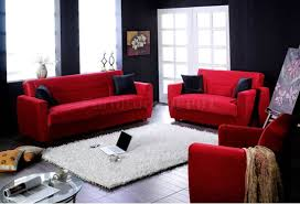 Red Living Room Chairs Casual Red Microfiber Sofa Love Seat Living Room Furniture Set
